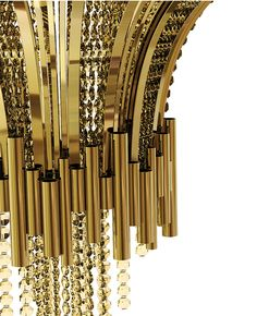 Designed for a luxury ambience to give a little more life and light. Combining the modern and classical design, this sumptuous piece made in brass and Swarovski crystals will match perfectly in stately projects.