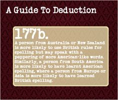 A Guide To Deduction, Even on the internet, when hearing a person's...
