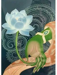 "The hand of Hindu goddess Green Tara, holding a lotus flower. ""No mud; no lotus. Art Buddha, Buddha Kunst, Green Tara, Yoga Kunst, Little Buddha, Tibetan Art, Yoga Art, Tantra, Indian Art"