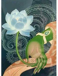"The hand of Hindu goddess Green Tara, holding a lotus flower. ""No mud; no lotus. Art Buddha, Buddha Kunst, Green Tara, Yoga Kunst, Little Buddha, Tibetan Art, Yoga Art, Poster S, Tantra"