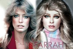 A side by side comparison of another repainted and restyled Mattel Barbie repainted to be a non-smiling version of Farrah.  Noel Cruz (of http://www.myfarrah.com) restyled and repainted this Barbie to become Farrah Fawcett. For more on Farrah and her career and work visit http://www.myfarrah.com.