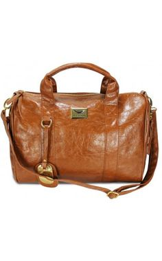 Celebrity Style Remi Studded Bowler Bag In Tan
