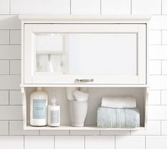 Matilda Wall Cabinet | Pottery Barn (not too offensive if you feel you need to do storage above guest bathroom toilet)