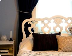 DIY White Painted Headboard. Want this to be my next project!