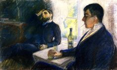 The Absinth Drinkers Edvard Munch - 1890