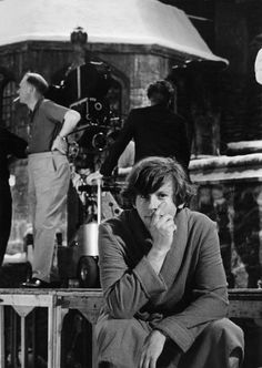 "Roman Polanski on the set of his ""The Fearless Vampire Killers""."