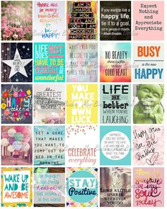Happy Inspirational and Motivational Printable by monbonbon