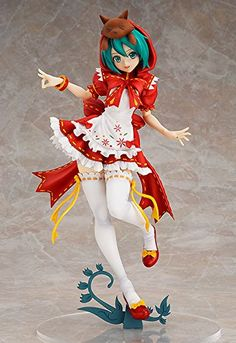 """Max Factory Hatsune Miku: Project Diva: 2nd: Mikuzukin PVC Figure (1:7 Scale)  From Max Factory. A Little Red Riding Hood so cute, even the wolf couldn't bring himself to eat her! From SEGA's rhythm game Hatsune Miku -Project DIVA- 2nd comes a 1/7-scale figure of one of the most popular """"module"""" outfits from the game, Mikuzukin! All the details of her outfit have been carefully sculpted onto the figure, including the large red hood with a cute little wolf peeking out from the top! Th.."""