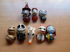 DIY your photo charms, compatible with Pandora bracelets. Make your gifts special. Make your life special! Nightmare before Christmas charms by Lunatica-Reiko Crea Fimo, Fimo Clay, Polymer Clay Charms, Polymer Clay Projects, Polymer Clay Art, Clay Crafts, Polymer Clay Jewelry, Clay Earrings, Polymer Clay Miniatures