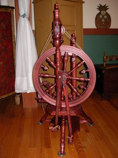 My Kromski Minstrel spinning wheel. photo by eh