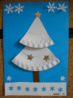.:MŠ Na Kopečku - Teplice:. Preschool Christmas Crafts, Christmas Activities For Kids, Christmas Cards, Christmas Decorations, Christmas Tree, Winter Art Projects, Sunday School Crafts, Art Lessons, Arts And Crafts