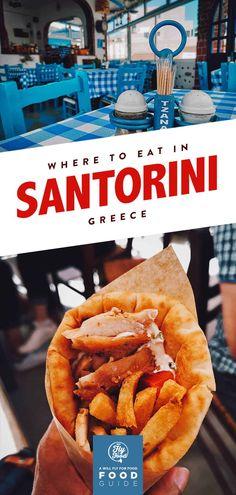 Santorini Food Guide: 9 Must-Eat Restaurants in Santorini, Greece Greece Honeymoon, Greece Vacation, Greece Travel, Italy Travel, Santorini Travel, Santorini Greece, Greece Food, Europe Travel Guide, Greek Dishes