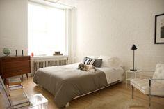 minimal masculine bedroom