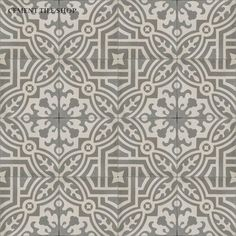 Cement Tile Shop - Encaustic Cement Tile Fountaine Antique *** entry and patio Concrete Tiles, Stone Tiles, Ceramic Design, Tile Design, Encaustic Tile, Handmade Tiles, Tile Patterns, Kitchen Flooring, Tile Floor