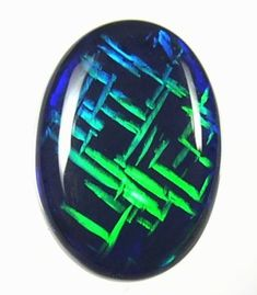 Chinese writing a rare pattern in black opal gems