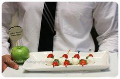 Mini Caprese Salad Skewer Wedding Appetizer Idea - The Terrace Club NYC