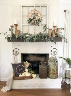 96 Beautiful Farmhouse Fireplace Mantel Decorations That Will Make – Farmhouse Room mantle decor farmhouse Decor, Fireplace Mantel Decor, Farmhouse Decor Living Room, Farm House Living Room, Fall Mantel Decorations, Mantle Decor, Home Decor, Farmhouse Fireplace Mantels, Living Decor