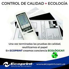 En ECOPRINT creamos conciencia #ecológica ♻ #ecoprint #color #negro #impresora…