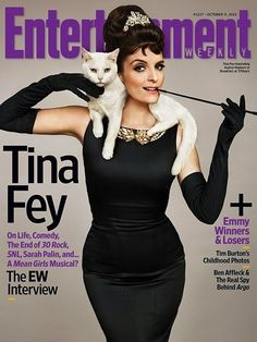 Tina Fey As Audrey Hepburn's Holly Golightly.... But wait.... Mean girls musical??????? I want!!!!