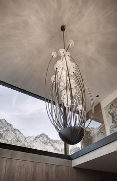 bespoke chandelier for a privat house in the austrian mountains by gogl-architekten.at/ chandelier: Isabel Hamm licht Glass Pendants, Ceiling, Chandelier, Decor, Glass, Light, Bespoke Lighting, Home Decor