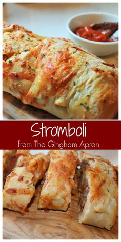 Stromboli- An easy and fun way to make homemade pizza.