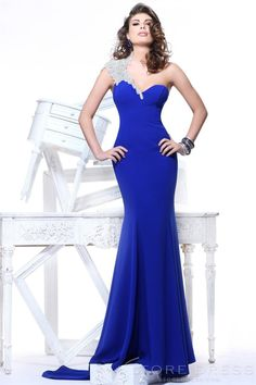 Gorgeous Trumpet / Mermaid One-shoulder Floor-length Evening Dress 2014 New Style at Storedress.com