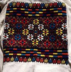 Ukrainian folk blouse embroidery