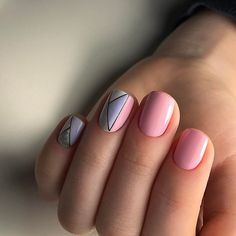 Pastel Colors Geometric Nail Art Design. This abstract pastel nail design can also be your next nail design for spring because of its fresh look and amazing colors.