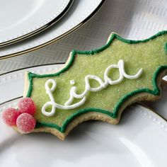 Great idea for a placemark! Decorate a cookie, with individual's name's!
