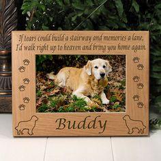 Golden Retriever Dog Memorial Frame
