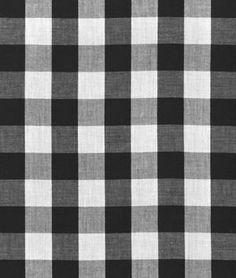 "1"" Black Gingham Fabric | onlinefabricstore.net"