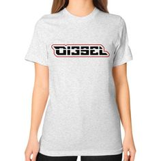 Di3seL Logo(Red Variant) Unisex T-Shirt (on woman)