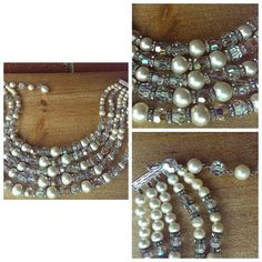 Check out this item in my Etsy shop https://www.etsy.com/listing/251782011/vintage-multiple-strand-pearl-rhinestone