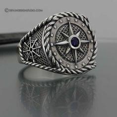 Men's Compass Ring. Love!!! #men'sjewelry