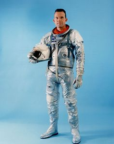 """An original Mercury astronaut, Leroy Gordon """"Gordo"""" Cooper (March 6, 1927 – October 4, 2004). NASA photograph."""