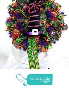 XL Happy Halloween Deco Mesh Door Wreath Hanger from Crazyboutdeco Deco Mesh…