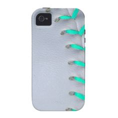 Light Blue Stitches Baseball / Softball Vibe iPhone 4 Cases