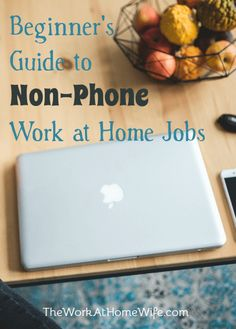 Great list of work-at-home jobs that don't require being on the phone