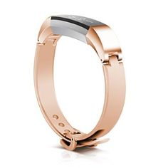 """TreasureMax Metal Replacement Jewelry Bracelet Watch Band for Fitbit Alta, Rose Gold, Silver (6.5""""-8.1"""")"""