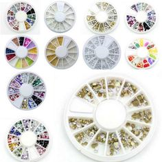 1 wheel Nail Art Decorations 3D Fimo Rhinestones Acrylic Jewelry for Nails DIY Lots style for Choose  EUR 0.56  Meer informatie  http://ift.tt/2rOzDSL #aliexpress