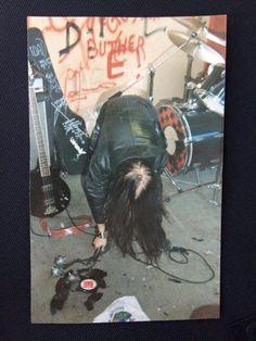 Euronymous smashing a LP.