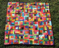 Scraphappy modern baby quilt from Pippa, on Etsy. Love this modern, colorful, handmade baby quilt. No one else will have it!