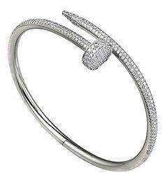 4119bc48c CARTIER Juste un Clou 18ct white-gold and diamond bracelet