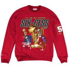 Champions Collection Six Time Champions Crew Chicago Bulls - Shop Mitchell    Ness NBA Fleece and Sweatshirts b73516758
