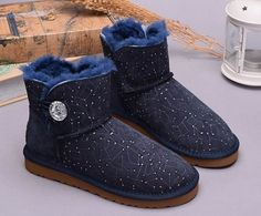 UGG Boots Mini Bailey Button Bling Constellation 1008822 Navy