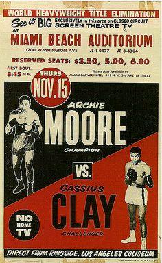 Nov.15 1962 Archie Moore vs Cassius Clay - Muhammad Ali #Boxing #Ali #MuhammadAli