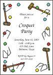 croquet party invite