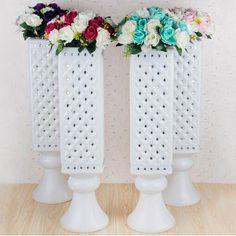 4pk x 90cm ROMAN PILLARS Wedding Decor Plastic Column Pedestal Photography Props