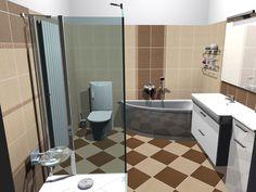 Bathroom interior design made of Zorka Keramika Tiles - Coffee Collection