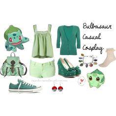 Bulbasaur Casual Cosplay by cupcake-curiosities, via Polyvore